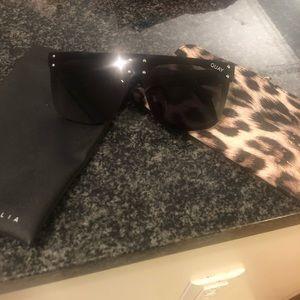 Kylie x quay black hidden hills sunglasses